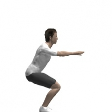 Bodyweight Only Squat, Close Stance Ending Position