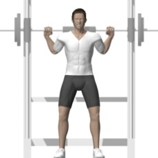 Smith Press Smith Squat Starting Position