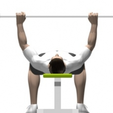 Smith Press Bench Press Starting Position