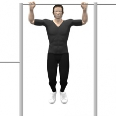 Monkeybars Pull-up, Upright Ending Position
