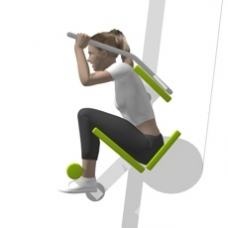 Lever Crunch, Seated Ending Position
