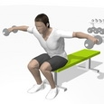 Lateral Raise, Seated, Bent Forward