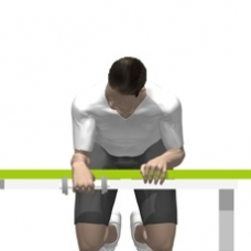 Dumbbell Wrist Extension Starting Position