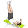 Hip Raise, Supine, On Bench