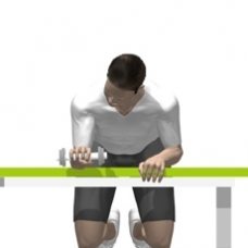 Dumbbell Wrist Extension Ending Position