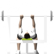 Barbell Bench Press, Close Grip Starting Position