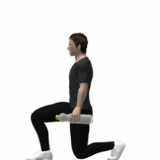 Water Bottles Lunge Ending Position