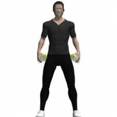Water Bottles Lateral Raise Starting Position