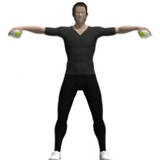 Water Bottles Lateral Raise Ending Position
