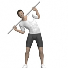 Side Bend Broomstick Exercise Strength Training