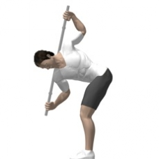 Bent over broomstick twists