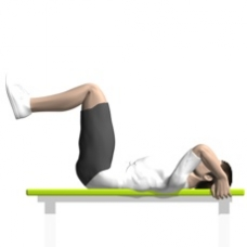 Bodyweight Only Crunch, Reverse Starting Position
