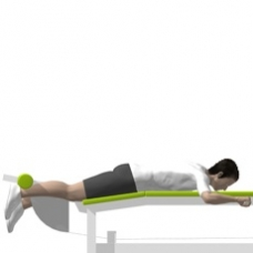Lever Leg Curl, Lying, Single Leg Starting Position