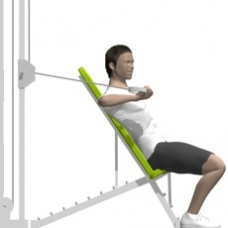 Cable Chest Press, One Arm Starting Position