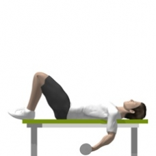 Dumbbell Curl, Lying Starting Position