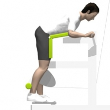 Lever Leg Curl, Standing Starting Position