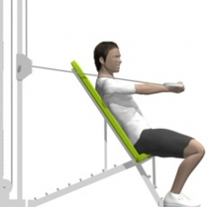 Cable Chest Press, One Arm Ending Position