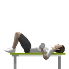 Dumbbell Curl, Lying Ending Position