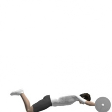 Barbell Roll-out Ending Position