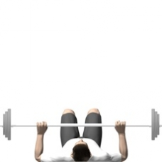 Barbell Floor Press Starting Position