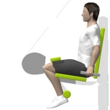 Lever Leg Curl, Seated Ending Position