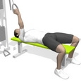 Curl, Supine, One Arm, On Flat Bench