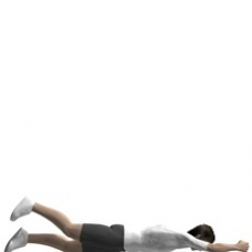 Bodyweight Only Leg Raise, Prone Ending Position