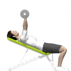 Barbell Triceps Extension, Incline Starting Position