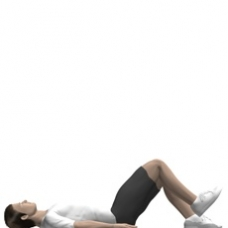 Mat Leg Extension, Supine Starting Position