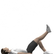 Mat Leg Extension, Supine Ending Position