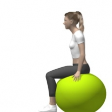 Fitness Ball Leg Extension, Seated Starting Position