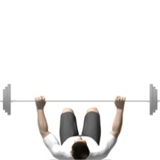 Barbell Floor Press Ending Position