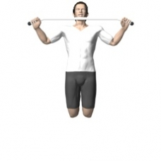 Bodyweight Only Pull-up Ending Position