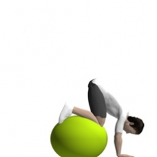 Fitness Ball Core Flexion, Prone Ending Position