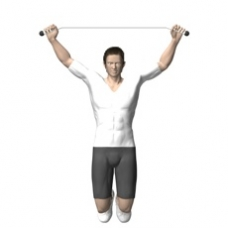 Bodyweight Only Pull-up, Behind Neck Starting Position