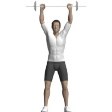 Barbell Clean and Press Ending Position