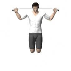 Bodyweight Only Pull-up, Behind Neck Ending Position