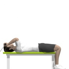 Cable Triceps Extension, Lying Starting Position