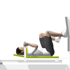 Sled Leg Press, Single Leg Starting Position