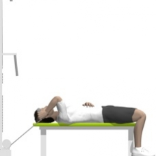Cable Triceps Extension, Lying, One Arm Starting Position