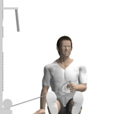 Cable External Rotation, Seated Starting Position