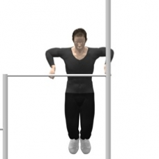 Monkeybars Dip, Wide Grip Ending Position