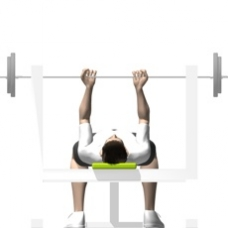 Barbell Bench Press, Reverse Grip Starting Position