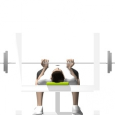 Barbell Bench Press, Reverse Grip Ending Position
