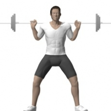 Barbell Squat, Wide Stance Starting Position