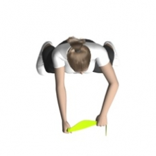 shoulder row standing elastic band  exercise  strength