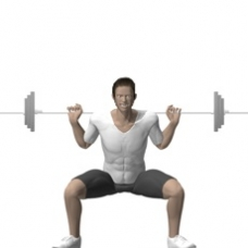 Barbell Squat, Wide Stance Ending Position