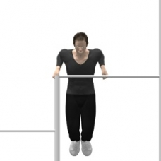 Monkeybars Dip, Narrow Grip Ending Position