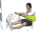 Cable Curl, Seated, Flat Bench