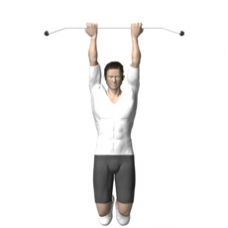 Bodyweight Only Chin-up Starting Position